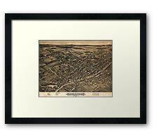 Panoramic Maps View of Albion NY 1880 Framed Print