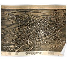 Panoramic Maps View of Albion NY 1880 Poster