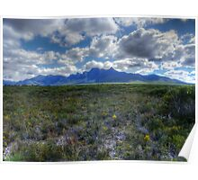 Stirling Ranges in autum Poster