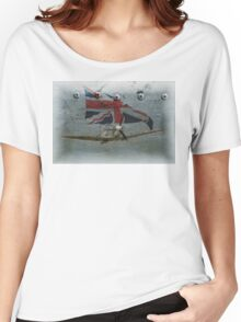 Patriotic Spitfire Women's Relaxed Fit T-Shirt