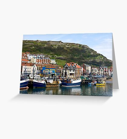 Harbour beneath the Castle Greeting Card