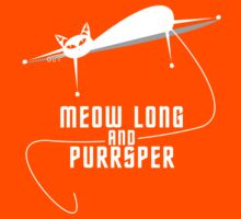 Spockat - Meow long and purrsper Kids Clothes