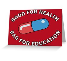 Kaneda Jacket - Good for Health Greeting Card