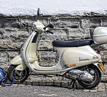 Vespa Scooter - Signs Of The Past by lynn carter