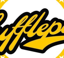 Hufflepuff Baseball Style Badge Sticker