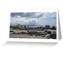 The fall of light on rock Greeting Card