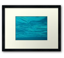 Within the Blue Jello Framed Print