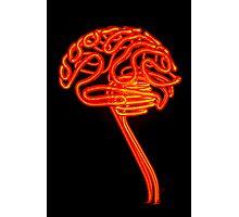 Neon Brain Photographic Print