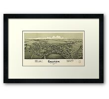 Panoramic Maps Gallitzin Cambria County Pennsylvania 1901 Framed Print