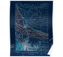 USGS Topo Map Oregon OR Portland 282801 1905 62500 Inverted Poster