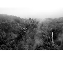 Japan Waterfall Landscape 01 - BW Photographic Print