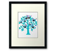 lovebirds sitting in a tree K-I-S-S-I-N-G Framed Print