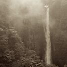 Japan Waterfall Landscape 02 - Sepia by shadow2