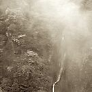 Japan Waterfall Landscape 03 - Sepia by shadow2