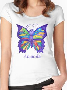 A Yoga Butterfly for Amanda Women's Fitted Scoop T-Shirt