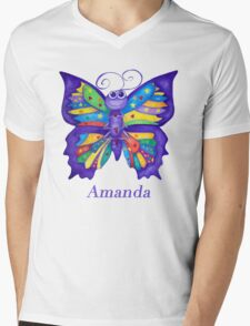 A Yoga Butterfly for Amanda Mens V-Neck T-Shirt