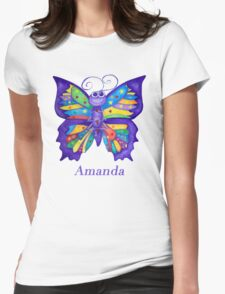 A Yoga Butterfly for Amanda Womens Fitted T-Shirt