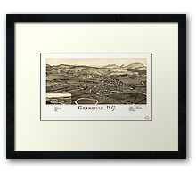 Panoramic Maps Granville NY Framed Print