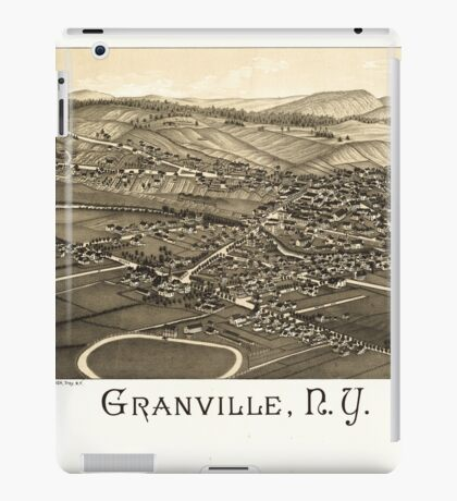 Panoramic Maps Granville NY iPad Case/Skin