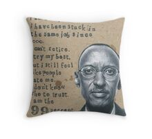 Paul Kagame and the 99% Throw Pillow