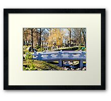 It's All Just Water Under the Bridge Framed Print