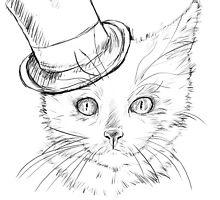 Yomi Cat Design (top hat) by Yomidesigns