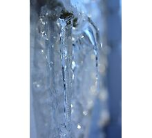 Frozen Icicle Formations Photographic Print