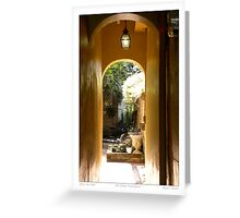 Classical Court Yard/ New Orleans French Quarter Greeting Card