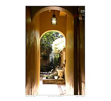 Classical Court Yard/ New Orleans French Quarter Photographic Print