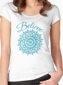Believe Mandala Women's Fitted Scoop T-Shirt