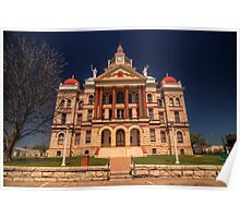 Coryell County Courthouse - Gatesville, Texas Poster