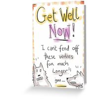 GET WELL WOLVES  Greeting Card