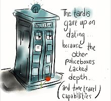 Sad Tardis is Sad.  by twisteddoodles