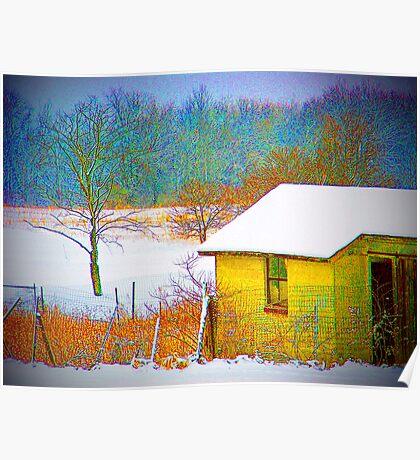 Vivid Snowfall Poster
