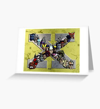 X Men Greeting Card