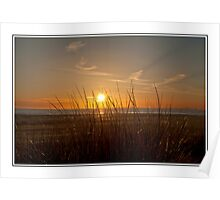 Sunset over Barmouth Dunes Poster