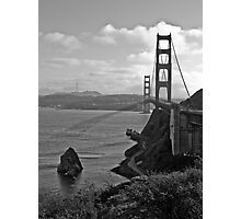 Golden Gate Bridge - BW Photographic Print