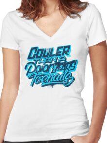 Cooler Than A Polar Bear's Toenails Women's Fitted V-Neck T-Shirt