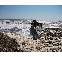 Seaform On Lowestoft Beach Photographic Print