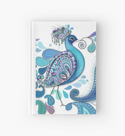 Paisley Peacock Hardcover Journal