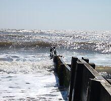 Waves By The Groyne by DCLehnsherr
