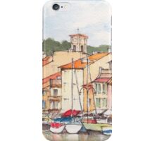 Cassis Aquarelle in the south of France iPhone Case/Skin