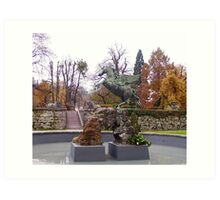 Pegasus Fountain in the Mirabell Palace and Gardens, Salzburg Art Print