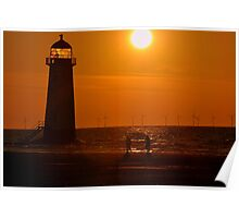 Sunset Shoreline at Talacre North Wales Poster