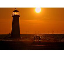 Sunset Shoreline at Talacre North Wales Photographic Print