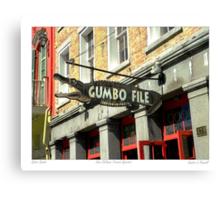 """Gator Gumbo""   Canvas Print"