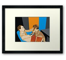 Brent and Peppa Framed Print