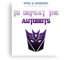 Training to Defeat the Autobots Canvas Print