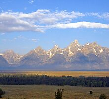 Teton Skyline by Harry Oldmeadow