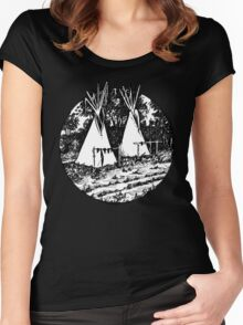 Crow Teepees Women's Fitted Scoop T-Shirt